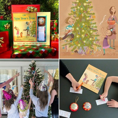 Oh! New Year's Tree kits are designed to give families and friends more to do together on New Year's Eve. Each kits includes colorful streamers, a tree topper, party hats, wish lists, collectible Wish Holder ornament and an exclusive illustrated storybook. Now families can experience the magic of decorating their Christmas tree for the New Year!
