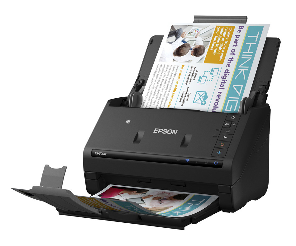 Epson WorkForce ES-500W Duplex Document Scanner