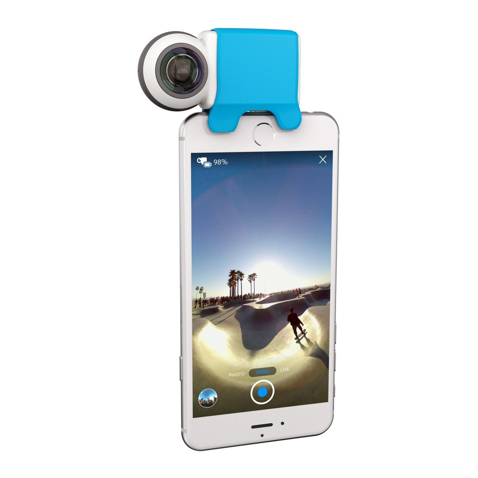 The GIROPTIC iO, a compact smartphone camera for shooting and sharing immersive 360° photos, videos and live streams, is now available for pre-order and will ship January 17, 2017.