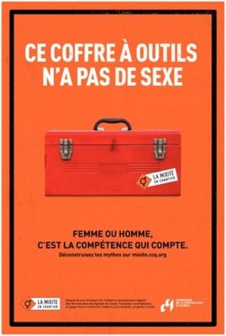 La mixité en chantier (Groupe CNW/Commission de la construction du Québec)