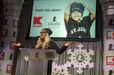 Kelly Cook, chief marketing officer, Kmart, speaks at St. Jude Children's Research Hospital recognizing that the retailer raised more than $100 million in lifetime donations.