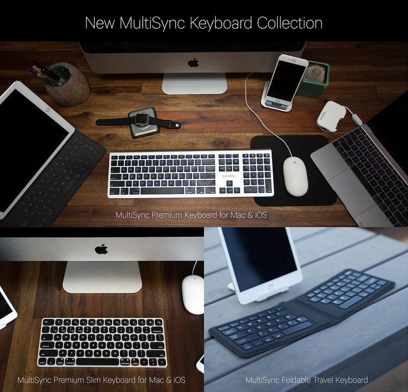 Featuring modern, yet functional designs, these Kanex keyboards feature clean sleek lines and low-profile keys that provide a stylish yet comfortable typing experience.