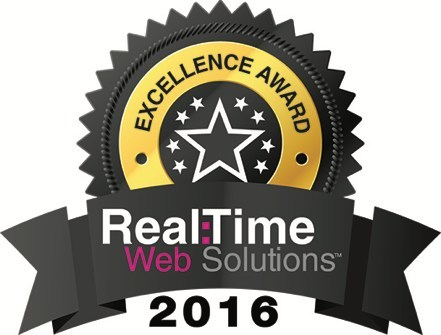 2016 Real Time Web Solutions Excellence Award winner logo