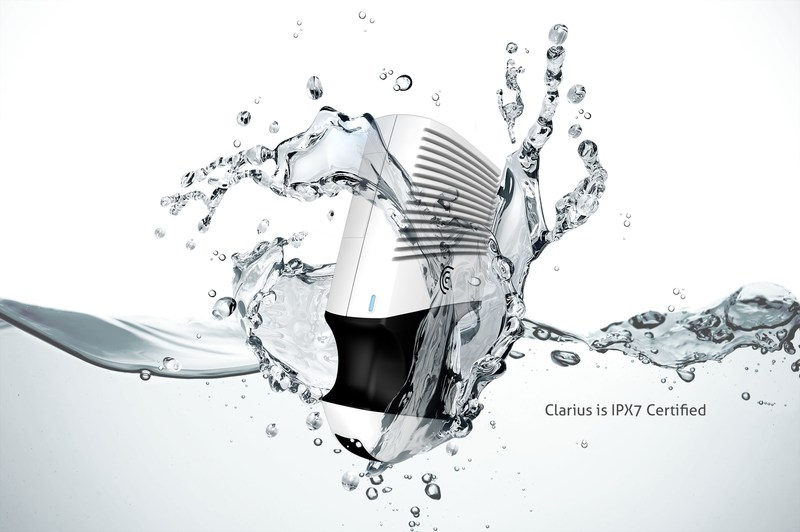 Clarius scanners and batteries have an IPX7 rating, meaning they are fully submersible in liquid