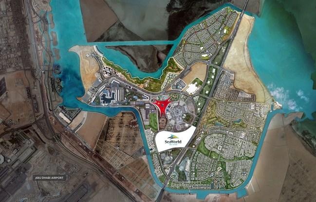 Project location of SeaWorld Abu Dhabi (PRNewsFoto/Miral Asset Management)