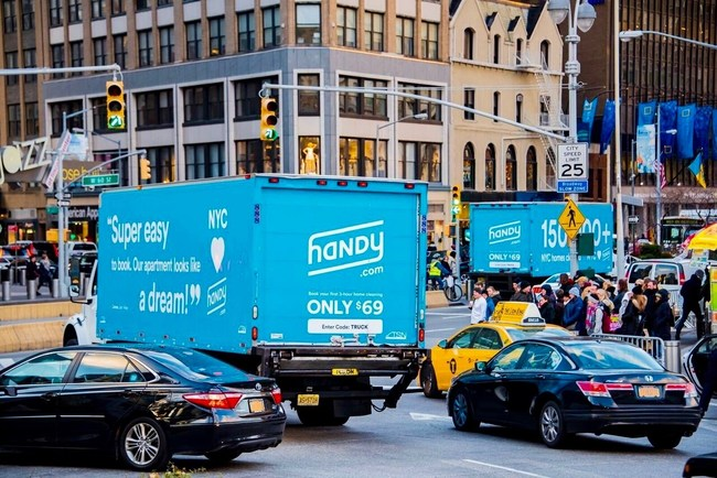 TSN Advertising promotes Handy in New York City during a special appearance.