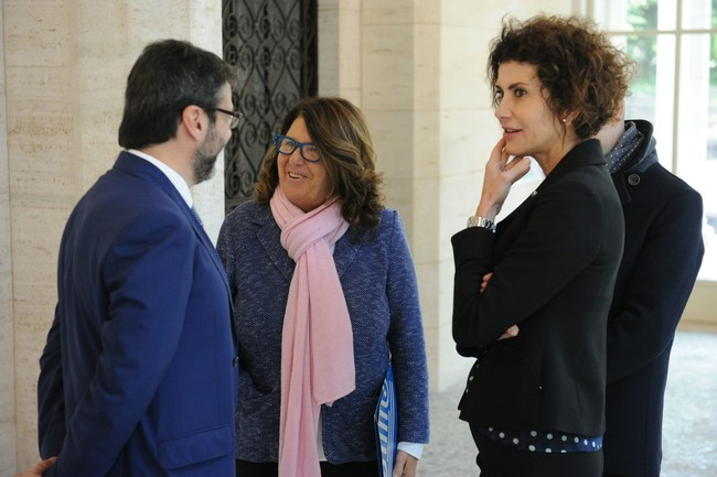 (From left to right) Professor Paolo Boccardelli, Dean of LUISS Business School; Professor Paola Severino, Rector of LUISS University; Luisa Todini, President Poste Italiane and member of BOD LUISS (PRNewsFoto/LUISS Business School)