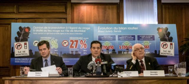 Les maires Robert Coutu, Philippe Roy et Georges Bourelle (Groupe CNW/ASSOCIATION DES MUNICIPALITES DE BANLIEUE)