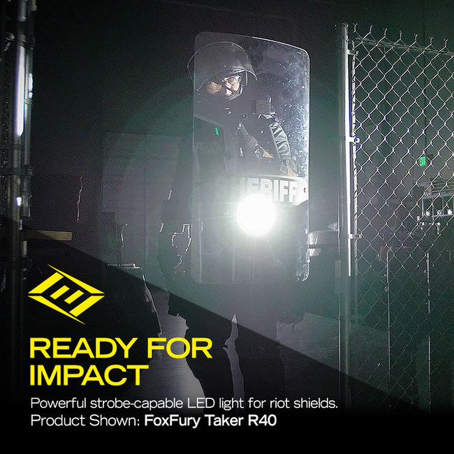 FoxFury Taker R40 Riot Shield Light