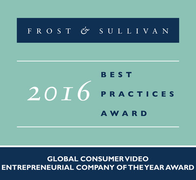Frost & Sullivan Commends TiVo with 2016 Global Entrepreneurial Company of the Year Award