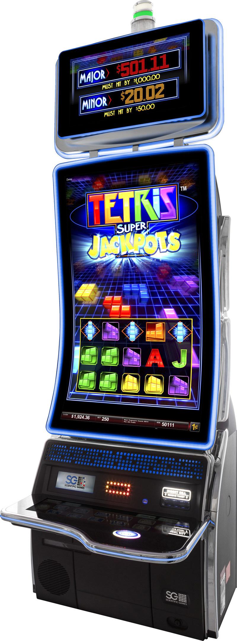Tetris Super Jackpot slot game on Scientific Games new TwinStar J43 cabinet.