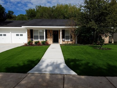 Front yard install by Turf Supply USA in Houston, Texas.