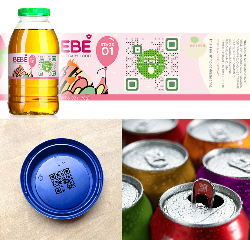 [V]code and micro [v]code can be applied to various packaging. Brands to engage with mobile natives effectively.