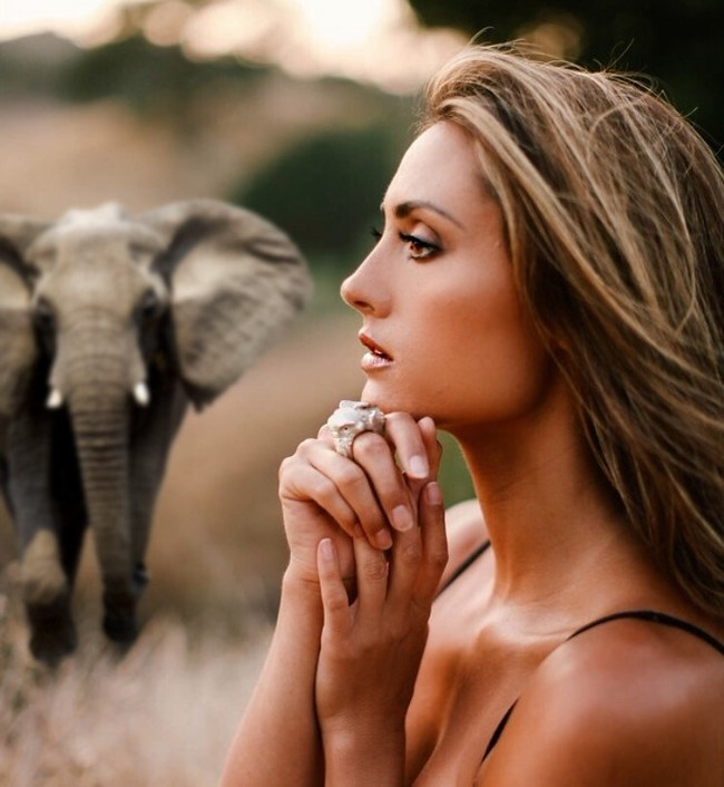 Katie Cleary Wearing New Elephant Conservation Ring; Portions of Proceeds from Rings Sold Are Donated To Help Protect Endangered African Elephants