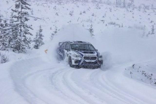 Antoine L''Estage et Darren Garrod remportent le Championnat des pilotes et des copilotes (Groupe CNW/Subaru Canada Inc.)