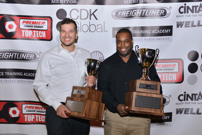 Premier Truck Group Top Techs Chip Stanesic and Daniel Johnson.