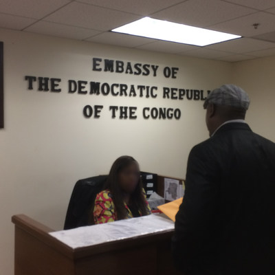 Darryl Lewis goes to DRC Embassy in Washington, D.C. (PRNewsFoto/Darryl Lewis)