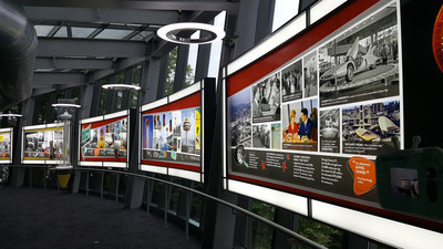 Custom large format LED Light Box installation in the visitor exhibit of the Space Needle
