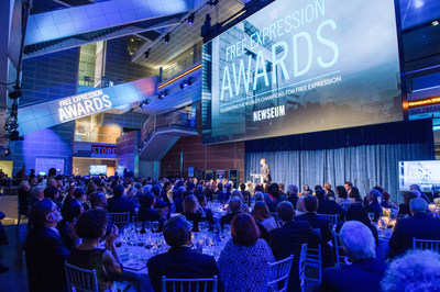 A scene from the sold-out 2016 Free Expression Awards (Maria Bryk/Newseum)