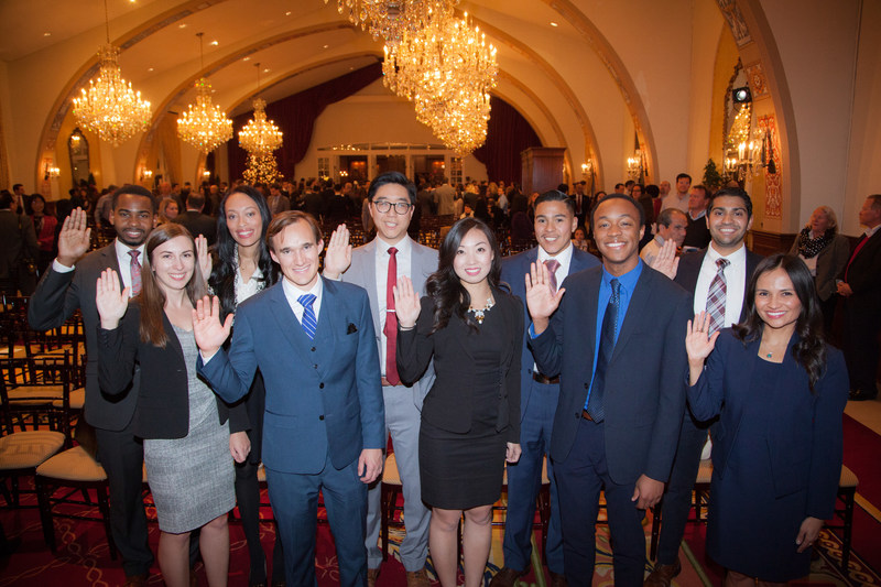 USC Law graduates celebrate passing the bar. USC posted the second highest passage rate in California.