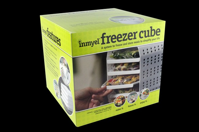 The Inmyel Freezer Cube is designed to freeze and store meals efficiently in quart size zipper closure freezer bags. Meals frozen in bags using the cube freeze flat and take up less space than bulky containers. The cube has multiple holes to allow air to circulate reducing the freezing time to help preserve the quality of frozen meals. The system is ideal for those looking to make convenient homemade healthy heat-and-eat meals as part of their weekly meal plan or portion controlled weight loss programs.