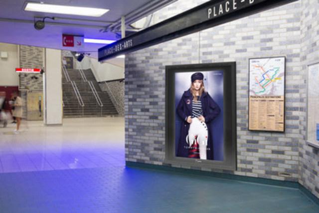 Digital Backlit Face, Place-des-Arts Station (CNW Group/Bell Media)