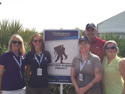 Wounded Warrior Project CEO Mike Linnington joined warriors for photos after the event.