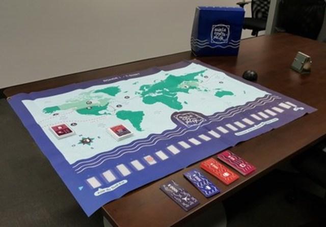 Le jeu « Suis le conteneur » est une activité pédagogique visant à informer et sensibiliser les jeunes élèves de niveau secondaire au secteur de la logistique et du transport des marchandises, ainsi que valoriser les métiers et les opportunités de carrière qui s'y rattachent. (Groupe CNW/CargoM)