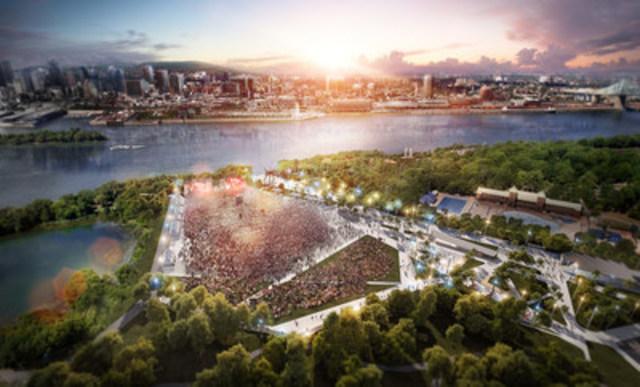 Natural Amphitheater and Central Concourse (CNW Group/SOCIETE DU PARC JEAN-DRAPEAU)
