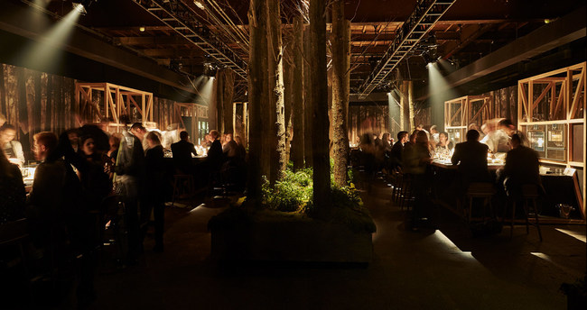 The immersive, multi-sensory pop-up restaurant transported guests to Gaggenau's historic birthplace in the Black Forest in southwest Germany, bordering France.