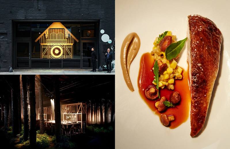 An elite American guest list enjoyed forest inspired cuisine, artfully crafted with Gaggenau's ultra-luxury appliances, a Cesare Cera soundtrack, a live blacksmith and German folklore enriched forest ambiance.