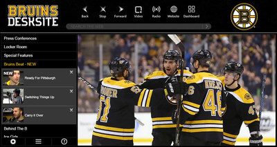 Boston Bruins launch new video app with Bruins DeskSite.