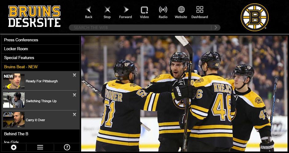 Boston Bruins launch new video app with Bruins DeskSite.