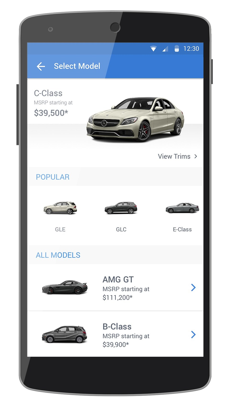 Select any car and see your estimated monthly payment