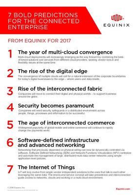 Equinix's Bold Predictions for 2017