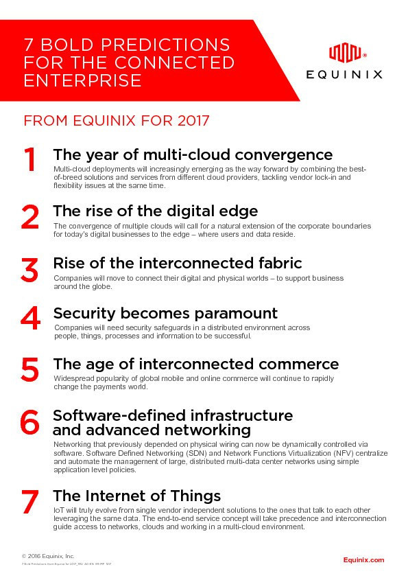 Equinix's Bold Predictions for 2017