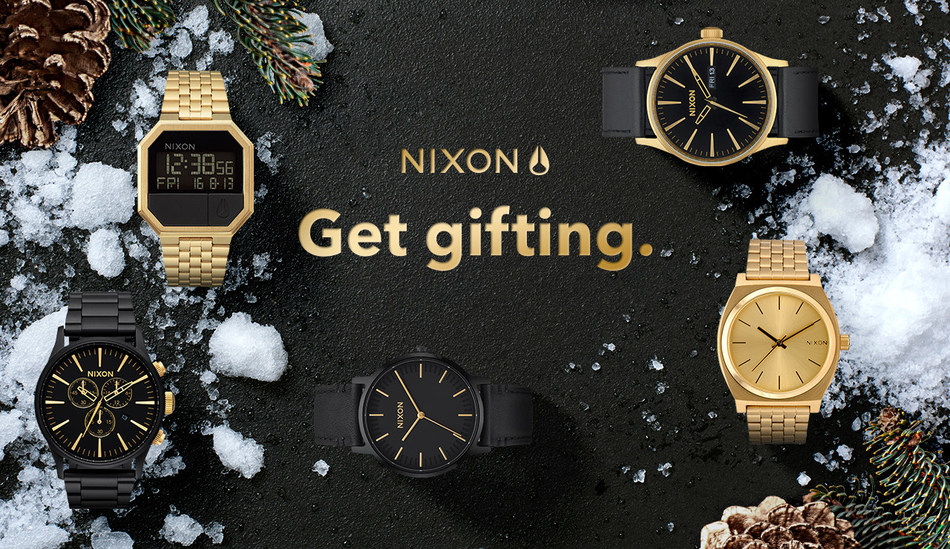 Get Gifting. Nixon Holiday Icons for Men.