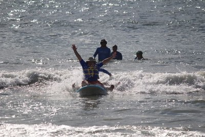 Wounded Warrior Project recently took John Goubeaux and other warriors surfing off the coast of North Carolina.