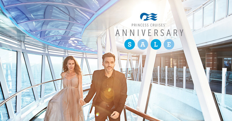 Princess Cruises Anniversary Sale Offers Up to $600 Onboard Spending Money on Cruise Vacations to All Summer 2017 through Spring 2018 Destinations