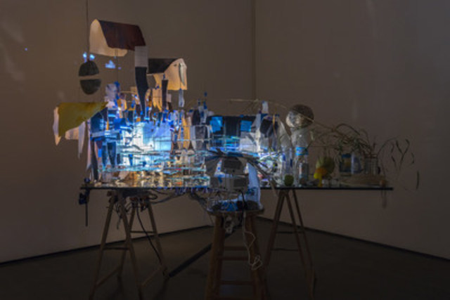 Sarah Sze, Measuring Stick, 2015, Giverny Capital Collection. Photo: Richard-Max Tremblay (CNW Group/Musée d'art contemporain de Montréal)