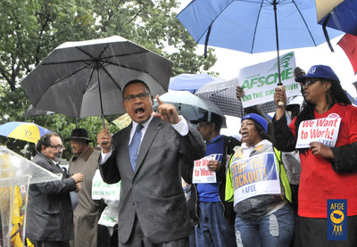 When congressional leaders shut down the federal government in 2013 over a partisan budget battle, Rep. Keith Ellison of Minnesota rallied outside the Capitol with employees who had been forced off the job. The American Federation of Government Employees, the nation's largest federal employee union, strongly supports Congressman Ellison's bid to become chair of the Democratic National Committee.