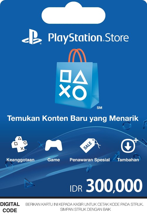 Sony Playstation Cards in 7-Eleven Indonesia by InComm.