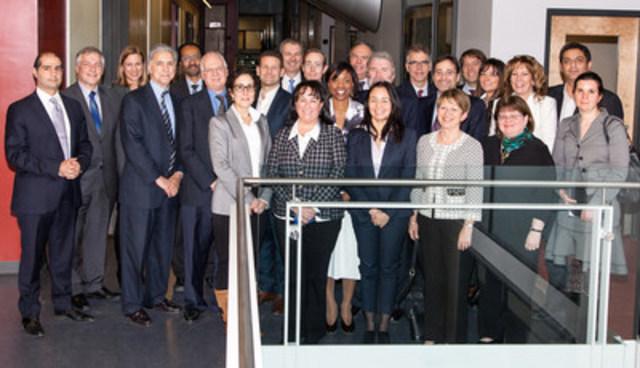 Representatives from provincial and federal governments, IRIC, IRICoR, Bristol-Myers Squibb (BMS), and life sciences sector. (CNW Group/Institut de recherche en immunologie et en cancérologie de l'Université de Montréal)