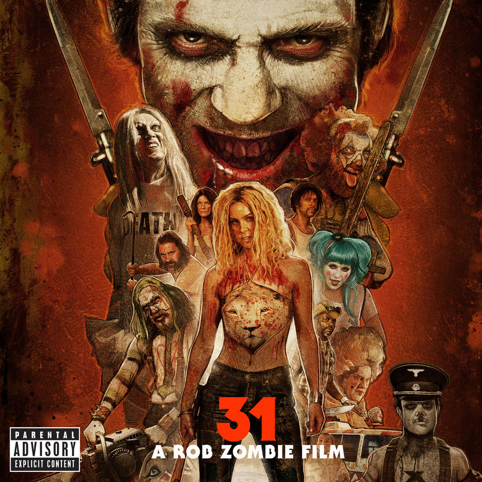 "Rob Zombie unleashes '31 - A Rob Zombie Film (Original Motion Picture Soundtrack)' today via UMe for download and streaming, with vinyl to follow on April 14, 2017. Produced by Zombie, the 31 soundtrack includes eight exclusive original score compositions he co-wrote and/or recorded with collaborators John Five, Bob Marlette, and Chris ""Zeuss"" Harris, and well-known tracks by other artists, including James Gang, Lynyrd Skynyrd, and The Mamas And The Papas."