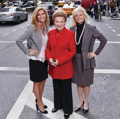 Valerie Ann Wilson, founder, chairman & CEO, Valerie Wilson Travel, Inc. (center), celebrates the company's 35th anniversary along with her daughters and Co-Presidents and Co-Owners, Jennifer Wilson-Buttigieg and Kimberly Wilson Wetty, in New York City. The occasion was marked with two full-days of training and networking with prominent luxury travel representatives in the industry.