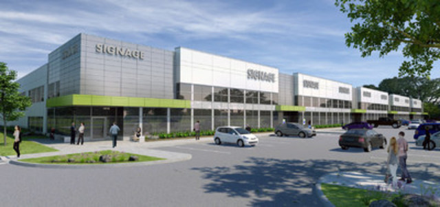 Fengate's Oak West Corporate Centre breaks ground in Oakville. (CNW Group/Fengate Capital Management)
