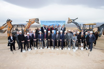 Credit One Bank employees celebrate the groundbreaking of their new headquarters in Las Vegas.