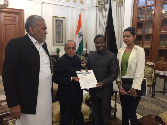 Dr KA Paul and minster P Rupala ji hosted by president of India at his residence to discuss the upcoming global Christmas celebrations from India to the world
