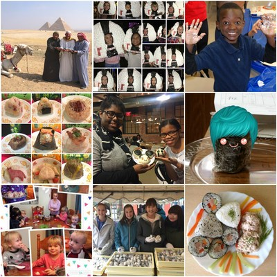 9 onigiri photos from the posted photos taken all over the world were awarded