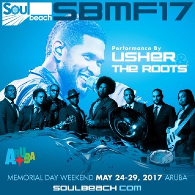 17th Annual Soul Beach Music Festival Hosted by Aruba Announces Superstar Headliner Usher and The Roots